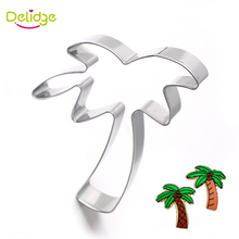 Delidge 1 pc Coconut Tree Cookie Molds Stainless Steel Palm Coco Cookie Cutter Tropical Plants Biscuit Fondant Decoration Molds(China)
