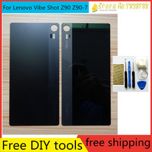 Free DIY Tools+Real Back cover For Lenovo Vibe Shot Z90 Z90-7 back Housing Battery Door Glass + logo + tracking