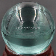 40MM Nice Gemstone Ocean Blue Obsidian Sphere Crystal Ball Chakra Healing Reiki Stone Carving Crafts W/Stand