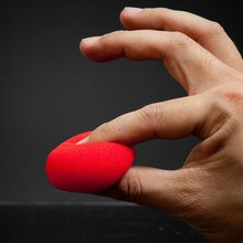 2017 Hot 10PCS Red Finger Magic Props Sponge Ball Street Classical Illusion Stage Comedy Tricks Magicians Toy for Kids Gift(China)