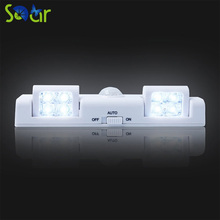 8LED Wireless Infrared Induction 3AA Battery Operated Light PIR Motion Sensor Light Sensor Lamp For Cupboard Wardrobe Cabinet