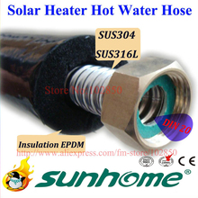 "DIN20(R1""),Flexible singleway 20mm EPDM Pre-insulated Hot water hose,SUS304 Corrugated stainless steel tube(China)"