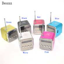 Desxz V26 Mini Portable Speaker Micro SD TF Speakers Music Player MP3 FM Radio USB Altavoz Stereo PC For MP4 Computer Phone New