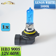 Buy flytop HB3 9005 12V 60W Halogen Bulb Super White 5000K Quartz Glass Xenon Dark Blue Car HeadLight Replacement Lamp for $1.08 in AliExpress store