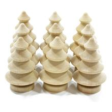 10pcs Peg Dolls DIY Craft Accessory Wooden Christmas Tree Ornament Merry Christmas Decoration New Year Supply(China)
