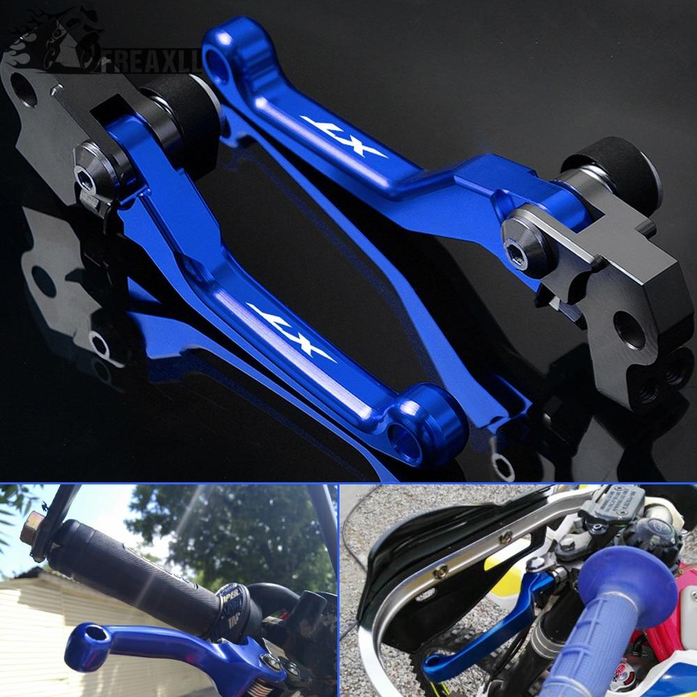 FXCNC Racing CNC Aluminum Dirt Bike Pivot Brake Clutch Lever Set for Yamaha XTZ125 2003-2012 Blue