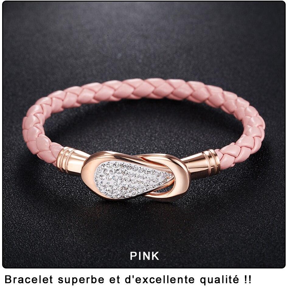 Women Leather Bracelet PU (6)-2