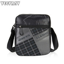 VEEVANV 2017 New Arrival Business Crossbody Bags Men Famous Brands Messenger Bags High Quality Cloth Patchwork Men Shoulder Bags(China)