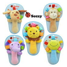 1pcs Sozzy musical baby rattles plush infant baby Toys animal plush toys Bene Rattles cute dog monkey toy for Baby & 18.5*12cm