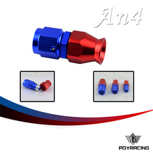 PQY RACING- High Quality PTEF AN4 AN-4 Straight REUSABLE SWIVEL TEFLON HOSE END FITTING AN4 PQY-SL6000-04-311