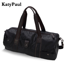 Men Vintage Retro Leather Travel Bags Hand Luggage Overnight Bag Fashionable Designers Large Duffle Bags Weekend Bag(China)