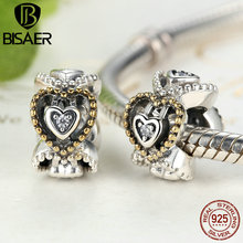 925 Sterling Silver Celebration Of Love, Clear CZ Bead Charms Fit Pandora Charm Bracelets DIY Fashion Jewelry Making