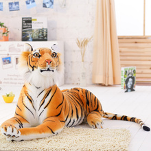 2016 new lovely style yellow tiger plush toys Tiny Tots Room Decor animals stuffed cloth doll kids toys Imitate Toys