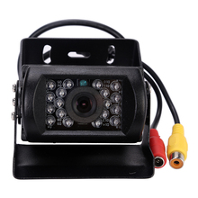 12-24v Truck Bus Lorry Car Rear View Reversing IR Nightvision Waterproof Auto Backup Parking Camera For Bus No Parking line(China)