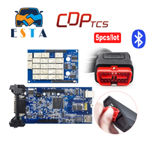CDP TCS pro plus Bluetooth OBD2 diagnostic tool for cars/trucks/generics 2014.02 2015.R3 software with keygen auto OBDII scanner