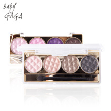 BABY GAGA 4 Colors Diamond Eyeshadow Radiant Eyes Makeup Waterproof Eye Makeup With Brush Palette Beauty Brand Cosmetic
