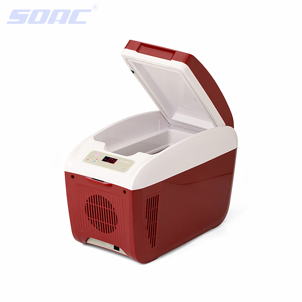8L Mini Fridge Cooler Car Fridge Beverage Drink Cans Cooler Warmer Refrigerator for 12V Cigarette Lighter Plug and Play Red<br><br>Aliexpress
