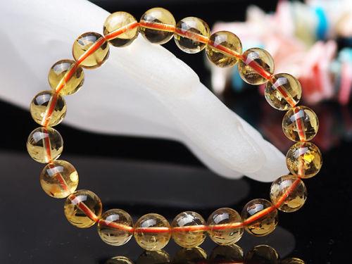 Natural Yellow Citrine Quartz Crystal Round Beads 11mm Bracelets Gemstone Stone Stretch Wealthy Woman ManAAAAAA (1)