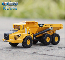 1 PC 13cm Cadeve Alloy truck model 1:87 articulated dump truck transport children gifts(China)
