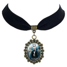 Sleeping Beauty Aurora Maleficent pendant Princess Princess Aurora Black Velvet Choker necklace King Stefan Pendant(China)
