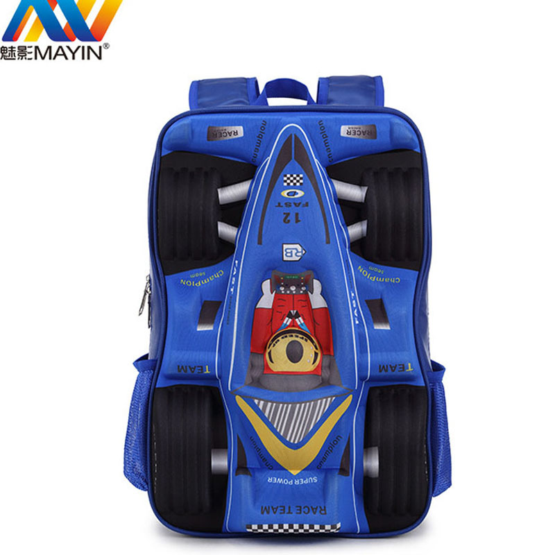 2016 New Arrival Racing Car designer boys girls students bag school cool backpacks travel backpack children bags free shipping<br><br>Aliexpress