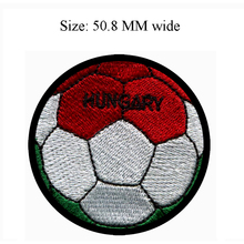 Hungary football embroidery patch 50.8 MM wide /athletics/cloth sticking/easy pastely(China)