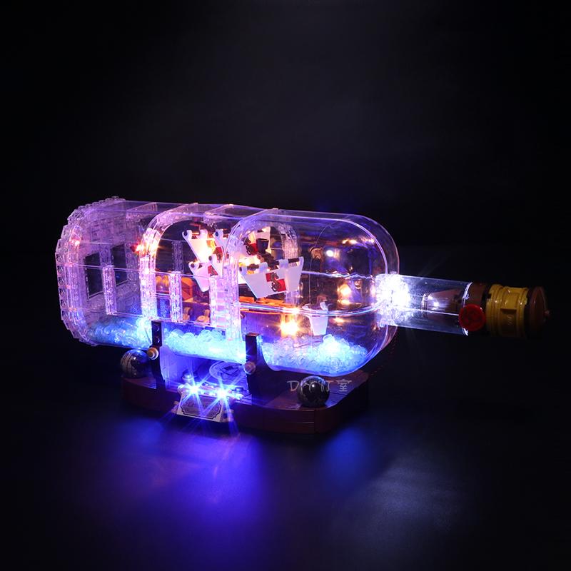 LED Light up Kit for Lego 21313 Ship in a Bottle Building Blocks Bricks DIY