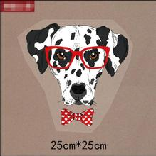 Hot Sales Glasses Dog Patches Heat Transfer Attached To The Chest Of Clothes Fashion DIY Accessory For Clothing Decoration