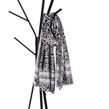 185*100CM winter scarf poncho Women White red Leopard Print Striped Women's Shawl Pashmina Stole Scarf Scarves(China)