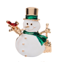 Christmas Snowman Costume Brooch Pins for Women Red Rhinestone Christmas Brooches Lot Collar Clip For Scarf Buckle
