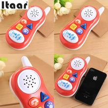 new button cartoon play music talking sound Educational Toy Gift Baby kids Cell Phone random colors