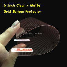 "6 Inch - 7.3cm x 12.9cm Universal HD Clear / Anti-Glare Matte LCD DIY Grid Screen Protector Protective Film For 6"" Phone GPS(China)"