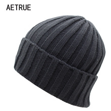 2017 Arrival Beanies Women Knitted Hat Men Winter Hats For Women Bonnet Caps Gorros Brand Warm Moto Wool Touca Winter Beanie Hat(China)