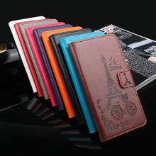 HongBaiwei Cover For Blackview A8 Moblie Case Fashion Embossed Tower Stand Flip Leather Cover Case For Blackview A 8 Phone Bag