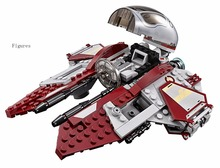 10575 Star Wars Obi-Wan's Jedi Interceptor Revenge of the Sith Block Set R4-P17 Droid Compatible with lego 75135 Starwars Toy