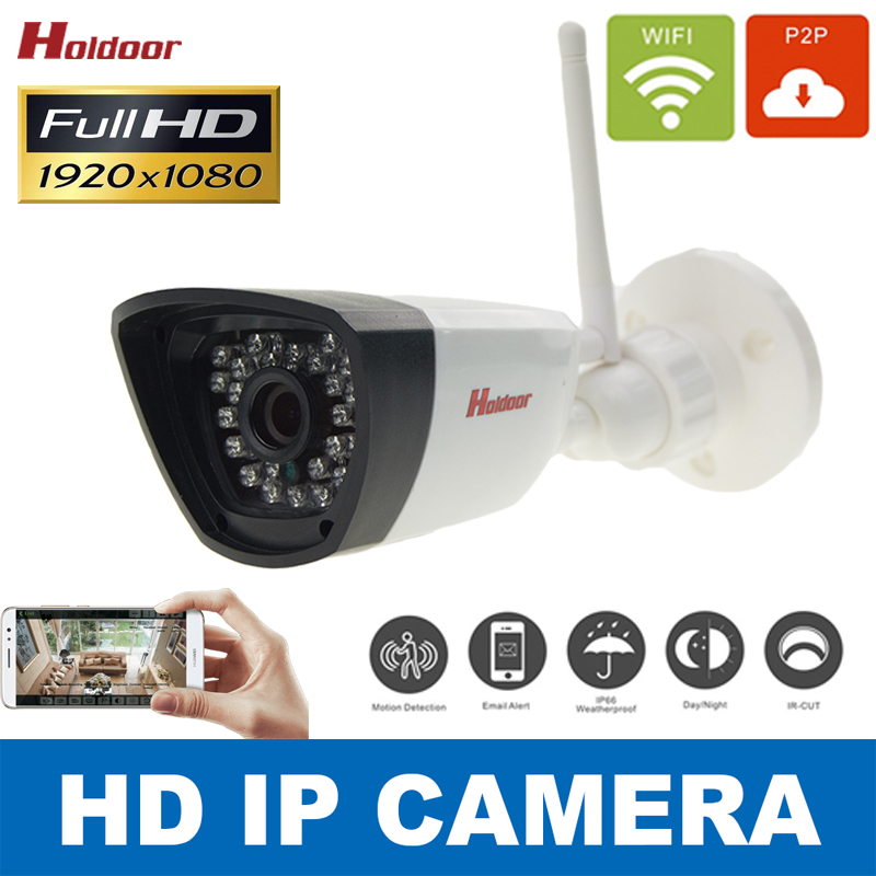 IP camera WIFI Megapixel 1080p HD Outdoor Wireless Digital Security CCTV IP Cam IR Infrared SD Card Slot P2P Bullet Kamera<br><br>Aliexpress