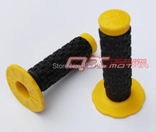 "FREE SHIPPING Yellow HIGH QUALITY BRAND NEW pro TAPER Motorcycle DIRT PIT BIKE MOTOCROSS 7/8"" HANDLEBAR GRIPS 1Pair(China)"