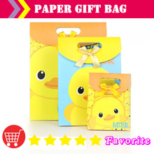 [ manufacturers] OEM  paper bags with logo/duck/ birthday bag / caton bag/shiny/packaging label/food bags/shopping#100169small