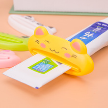 1Pcs Creative Toothpaste Squeezer Cartoon Animal Bath Toothbrush Holder Tools Dispenser Squeezing Bathroom Set(China)