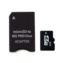 2GB Micro SD add Memory Stick Pro Duo Adapter equal 2GB MS Pro Duo(China)