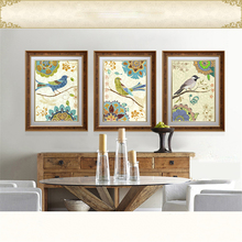 Oil Painting Frameless Canvas Art Home Decoration Animal Birds Cartoon Simple Fashion Modern Bedroom Living Room Wall Picture(China)