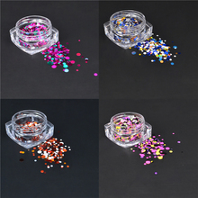 YZWLE 1g Nail Art Round Decorations New Mini Thin Mixed Colorful 1-3mm Designs Glitter Paillette Nail Art Tips Sticker