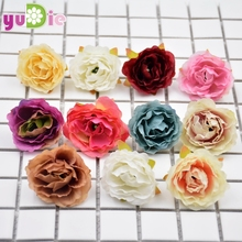 DIY artificial peony flower heads silk decorative flower DIY Road led wedding flower Bouquet hotel background wall decor 100pcs(China)