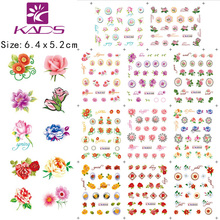 11sheet/SET Beautiful Flowers nail art sticker decals serie accessories nail art water transfer nail stickers for sticker decal