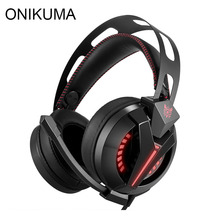 ONIKUMA M180 PS4 Gaming Headset Gamer casque Over Ear Best Stereo Bass Gaming Headphones with Microphone for PS4 Xbox One PC(China)