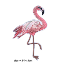 Chinese Traditional embroidery crafts Flamingo crane swan Patches Clothes Ironing Sew Appliques For Jeans Jacket Fashion Patches(China)