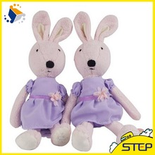 Best Price Free Shipping 30CM Le Sucre Purple Skirt Pink Rabbit Dolls Plush Toys Kids Love Cute Bunny Toy High Quality(China)