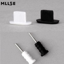 10 PCS(5blac+5white)Headphone Earphone Audio Jack 3.5mm Dust Plugs Micro Usb Charging Dock Anti Dust Plug Cap Covers For iPhone