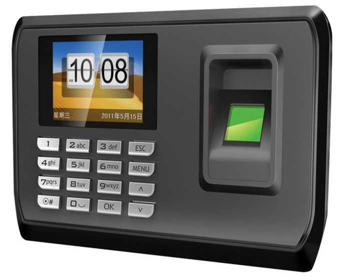 Biometric Fingerprint Attendance Machine Employee Checking-in Recorder 2.4inch Screen DC 5V Time Attendance Clock no need softwa<br>