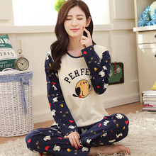 Peignoir home women pajama sets autumn lovers pyjamas long-sleeved cotton pajama  big size women's pajamas suit XXXL